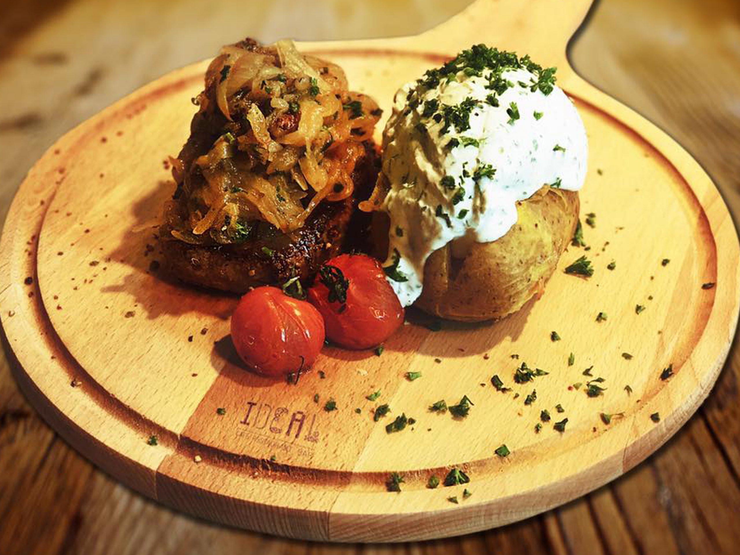 Hauptgerichte Speisen Steak